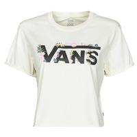 vaatteet Naiset Lyhythihainen t-paita Vans BLOZZOM ROLL OUT Valkoinen