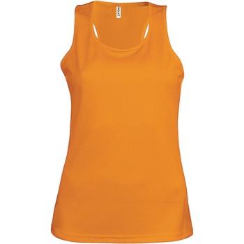 vaatteet Naiset Hihattomat paidat / Hihattomat t-paidat Proact Débardeur femme  Sport orange