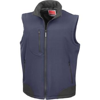 vaatteet Neuleet / Villatakit Result Doudoune Sans Manche  Softshell bleu marine