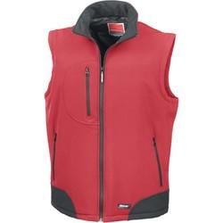 vaatteet Neuleet / Villatakit Result Doudoune Sans Manche  Softshell rouge/noir