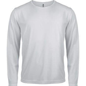 vaatteet Miehet T-paidat pitkillä hihoilla Proact T-Shirt manches longues  Sport blanc blanc