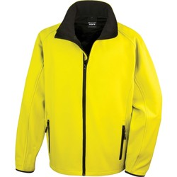 vaatteet Miehet Ulkoilutakki Result Veste  Softshell Printable jaune/noir