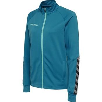 vaatteet Naiset Ulkoilutakki Hummel Veste femme  Zip hmlAUTHENTIC Poly bleu foncé