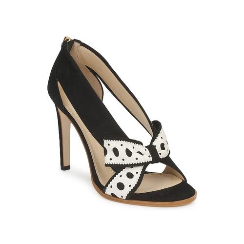 kengät Naiset Korkokengät Moschino DELOS ESCA Black / Ivory