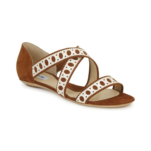 kengät Naiset Sandaalit ja avokkaat Moschino DELOS SAND Camel / Ivory