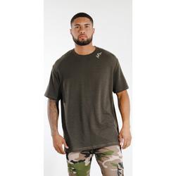 vaatteet Miehet Lyhythihainen t-paita Sixth June T-shirt  logo épaule kaki