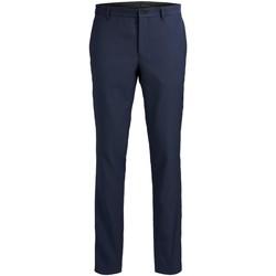 vaatteet Miehet Puvun housut Jack & Jones Pantalon  Solaris bleu foncé
