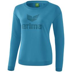 vaatteet Naiset T-paidat pitkillä hihoilla Erima Sweat-shirt femme  Essential bleu clair/bleu
