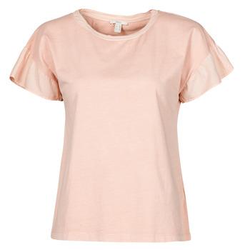 vaatteet Naiset Lyhythihainen t-paita Esprit T-SHIRTS Vaaleanpunainen