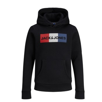 vaatteet Pojat Svetari Jack & Jones JJECORP LOGO PLAY SWEAT Musta