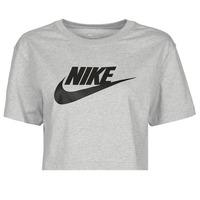 vaatteet Naiset Lyhythihainen t-paita Nike NSTEE ESSNTL CRP ICN FTR Harmaa / Musta