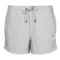 vaatteet Naiset Shortsit / Bermuda-shortsit Nike NSESSNTL FLC HR SHORT FT Harmaa / Valkoinen