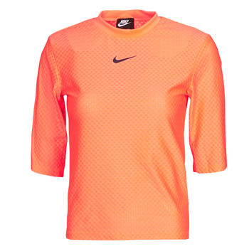 vaatteet Naiset Lyhythihainen t-paita Nike NSICN CLSH TOP SS MESH Oranssi