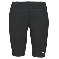 vaatteet Naiset Legginsit Nike NSESSNTL MR BIKER SHORT Musta / Valkoinen