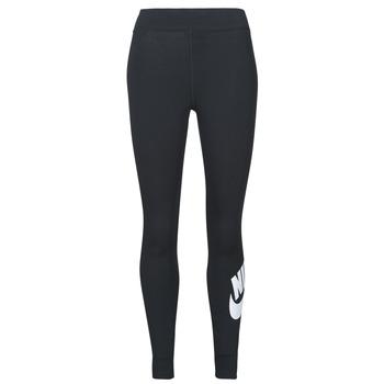 vaatteet Naiset Legginsit Nike NSESSNTL GX HR LGGNG FTRA Musta / Valkoinen