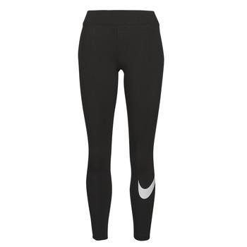 vaatteet Naiset Legginsit Nike NSESSNTL GX MR LGGNG SWSH Musta / Valkoinen