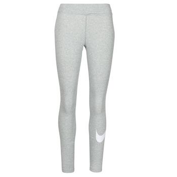 vaatteet Naiset Legginsit Nike NSESSNTL GX MR LGGNG SWSH Harmaa / Valkoinen