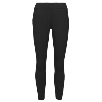 vaatteet Naiset Legginsit Nike NSESSNTL 7/8 MR LGGNG Musta / Valkoinen