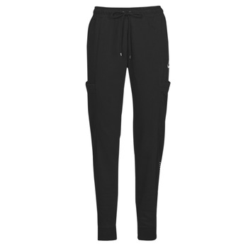 vaatteet Naiset Verryttelyhousut Nike NSAIR PANT FLC MR Musta / Valkoinen