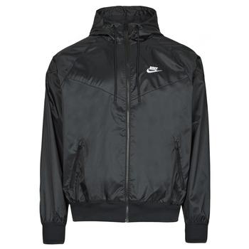 vaatteet Miehet Tuulitakit Nike NSSPE WVN LND WR HD JKT Musta / Valkoinen