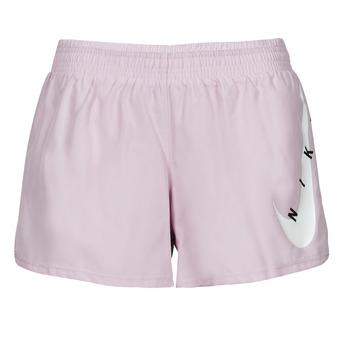 vaatteet Naiset Shortsit / Bermuda-shortsit Nike SWOOSH RUN SHORT Violetti / Valkoinen