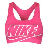 vaatteet Naiset Urheiluliivit Nike DF SWSH FUTURA GX BRA Vaaleanpunainen / Valkoinen