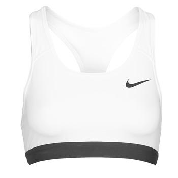 vaatteet Naiset Urheiluliivit Nike DF SWSH BAND NONPDED BRA Valkoinen / Musta