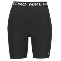 vaatteet Naiset Shortsit / Bermuda-shortsit Nike NIKE PRO 365 SHORT 7IN HI RISE Musta / Valkoinen