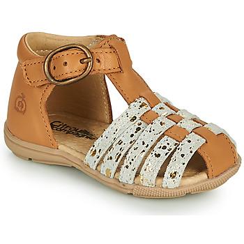 kengät Tytöt Sandaalit ja avokkaat Citrouille et Compagnie RINE Kamelinruskea / Camaieu / Kulta