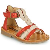 kengät Tytöt Sandaalit ja avokkaat Citrouille et Compagnie GITANOLO Koralli / Vaaleanpunainen