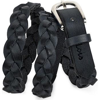 Asusteet / tarvikkeet Naiset Vyöt Lois Braided Leather Musta