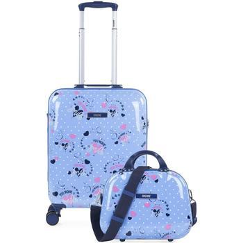laukut Tytöt Matkalaukut Skpat SMIL Matkustamon matkalaukku ja välttämättömyys Sininen