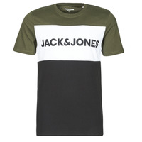 vaatteet Miehet Lyhythihainen t-paita Jack & Jones JJELOGO Khaki