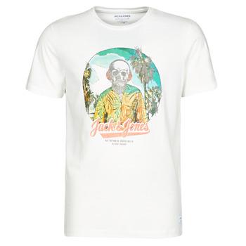 vaatteet Miehet Lyhythihainen t-paita Jack & Jones JORDAAYS Valkoinen