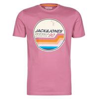 vaatteet Miehet Lyhythihainen t-paita Jack & Jones JORTYLER Pink