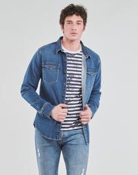 vaatteet Miehet Pitkähihainen paitapusero Yurban OPUCI Sininen