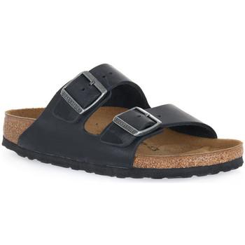 kengät Sandaalit Birkenstock ARIZONA BLACK OILED CALZ S Nero