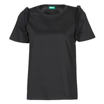 vaatteet Naiset Lyhythihainen t-paita Benetton MARIELLA Musta