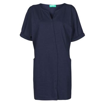 vaatteet Naiset Lyhyt mekko Benetton CAMILA Laivastonsininen