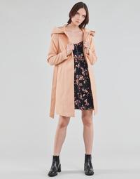 vaatteet Naiset Paksu takki Vero Moda VMCALALYON HOOD 3/4 JACKET GA Vaaleanpunainen