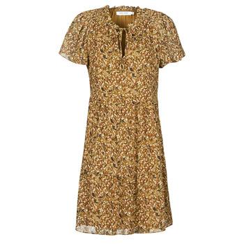 vaatteet Naiset Lyhyt mekko Naf Naf MARIA R1 Kamelinruskea