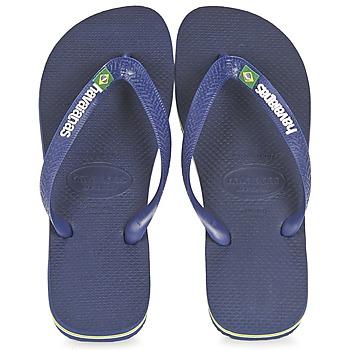 kengät Varvassandaalit Havaianas BRASIL LOGO Laivastonsininen