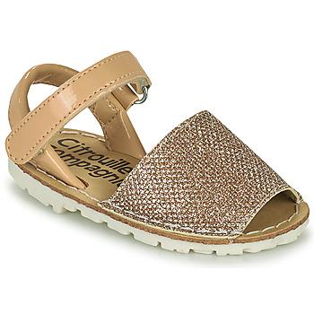 kengät Tytöt Sandaalit ja avokkaat Citrouille et Compagnie SQUOUBEL Beige