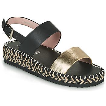 kengät Naiset Sandaalit ja avokkaat Café Noir GRISLI Musta / Kulta