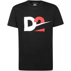 vaatteet Miehet Lyhythihainen t-paita Dsquared S74GD0728 Musta
