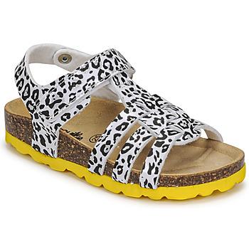 kengät Tytöt Sandaalit ja avokkaat Citrouille et Compagnie JANISOL Leopardi / Valkoinen / Musta