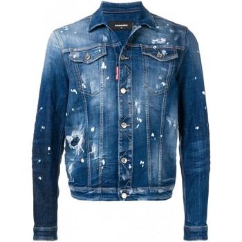vaatteet Miehet Farkkutakki Dsquared S71AN0052 Blue