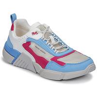kengät Naiset Matalavartiset tennarit Skechers BLOCK/WEST Valkoinen / Sininen / Vaaleanpunainen