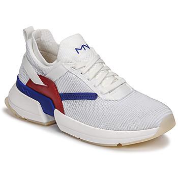 kengät Naiset Matalavartiset tennarit Skechers SPLIT/OVERPASS Valkoinen / Sininen / Punainen