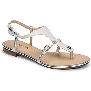 kengät Naiset Sandaalit ja avokkaat JB Martin GAELIA E20 White / Hopea